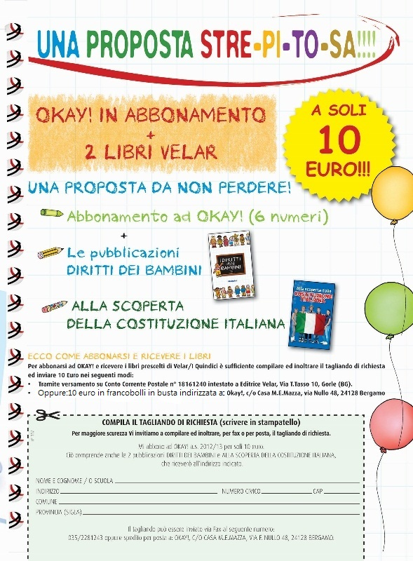 OKAY! + 2 libri a 10 EURO