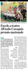 SCUOLA CAVAGNIS PREMIATA articolo de L'Eco di Bergamo