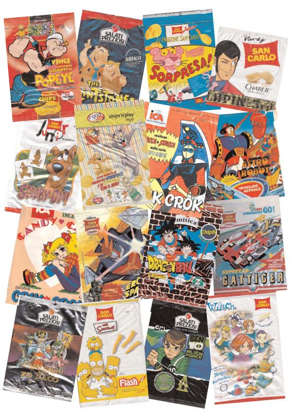 Fenomeni sorprese cartoons nei sacchetti delle