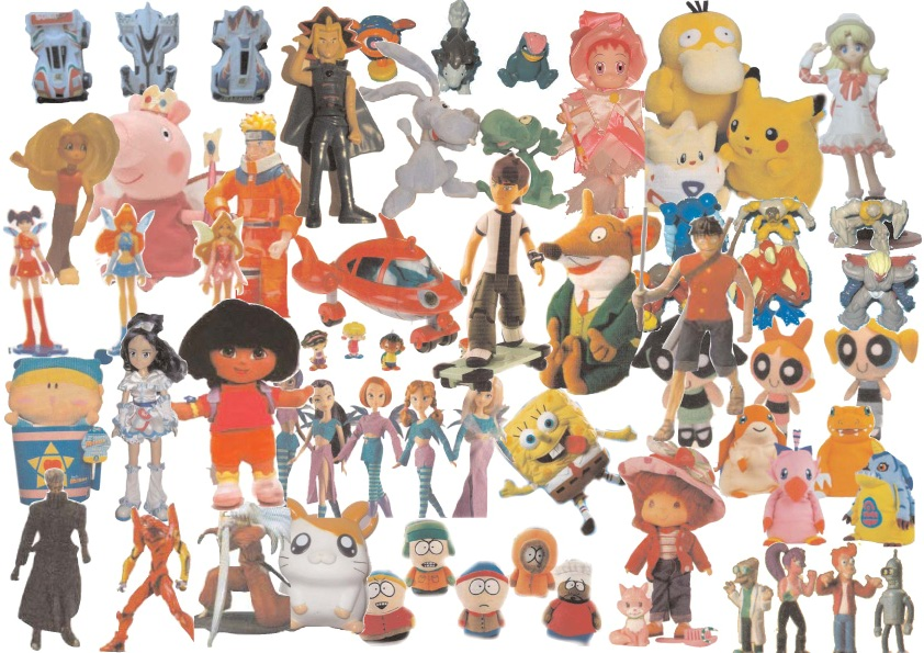 Cartoni animati e gadgets okay