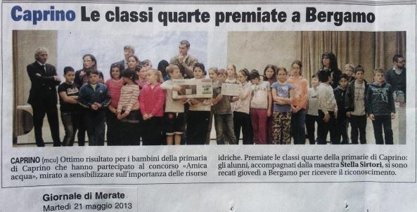 Scuola Primaria Caprino Bergamasco - Ne parlano i giornali (1)