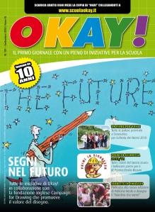 """Una copertina di Okay! dedicata alle attività della fondazione inglese """"Campaign For Drawing"""""""