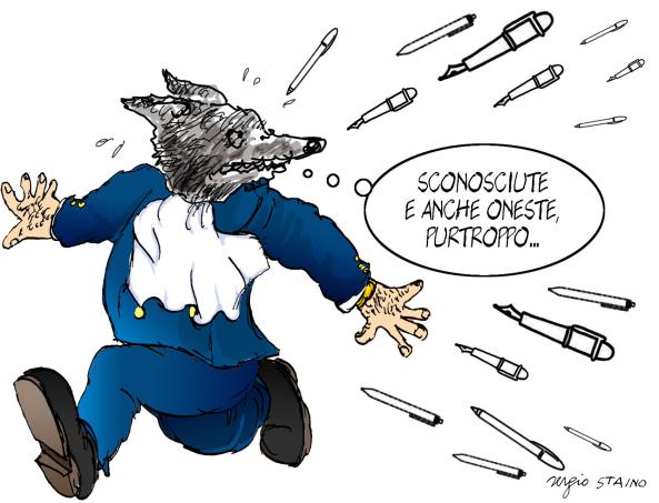 PENNE SCONOSCIUTE 2013 Vignetta di Staino