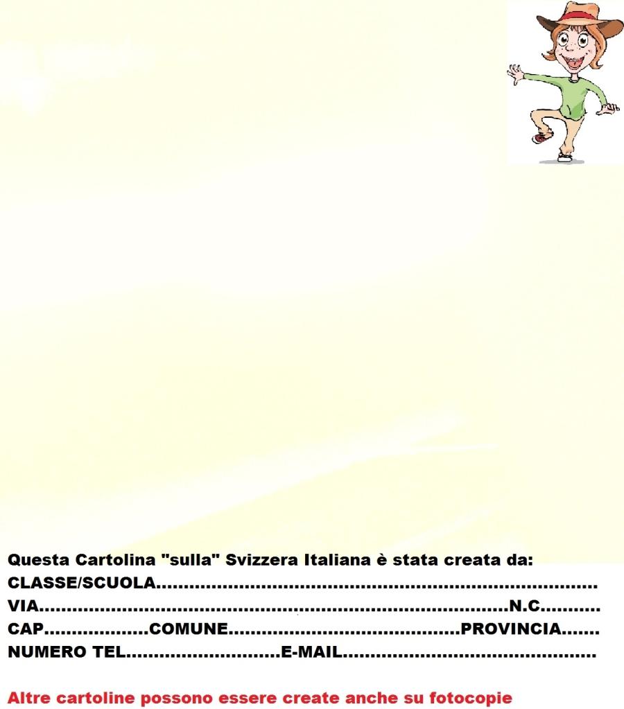 Cartolina Svizzera Italiana modello