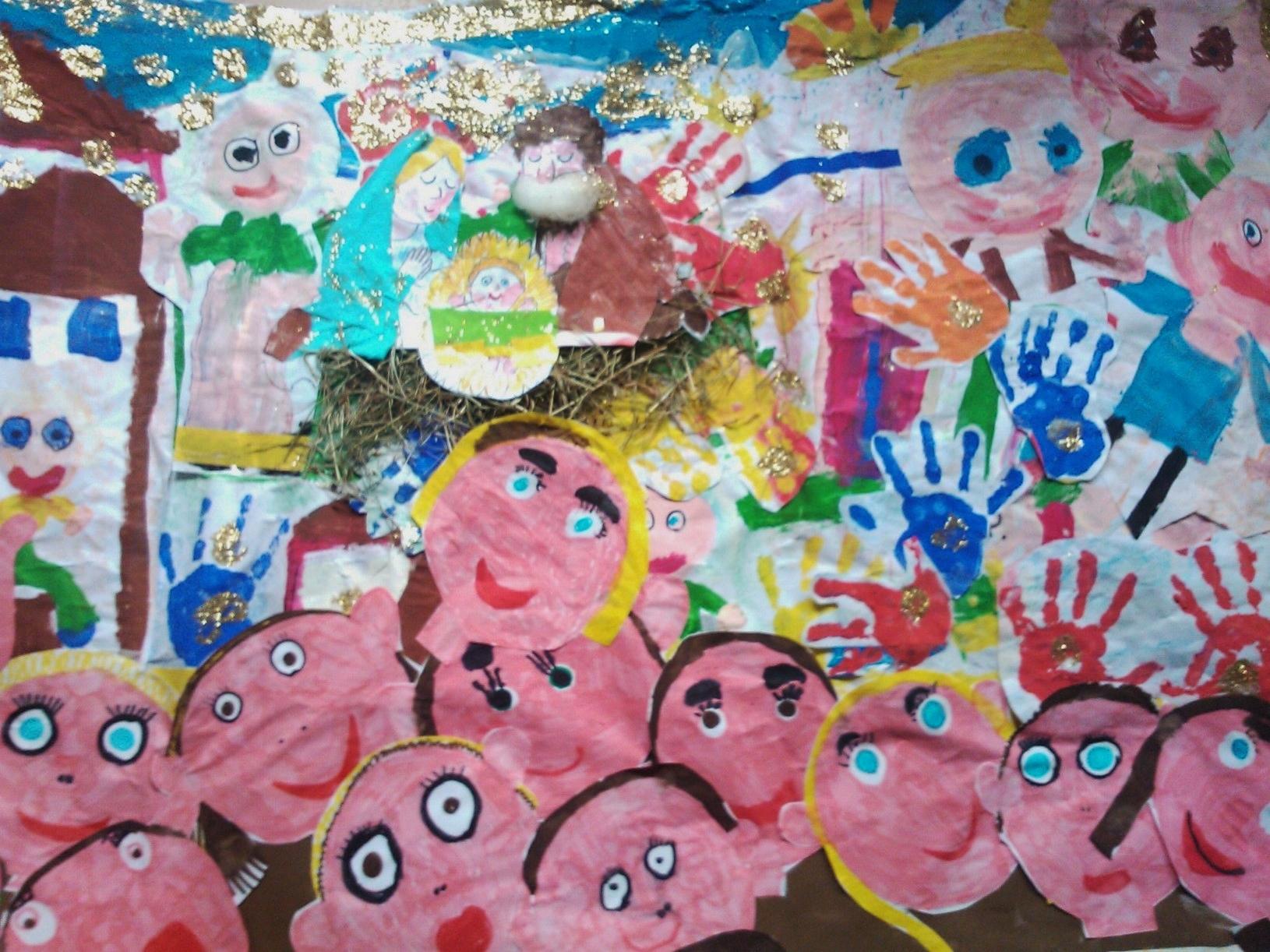 Valanga di disegni per caro natale ecco il cartellone for Cartelloni di natale per la scuola dell infanzia
