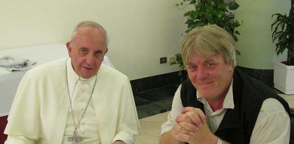 Papa Francesco con Gustavo Vera della Ong La Alameda di Buenos Aires