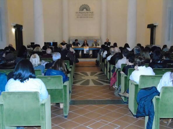 """""""Quando il giorno era una freccia"""": un'immagine dell'incontro tenutosi ad Ascoli Piceno il 7 febbraio scorso."""