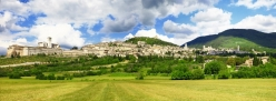 panorama of medieval town of Assisi, Umbria , Italy