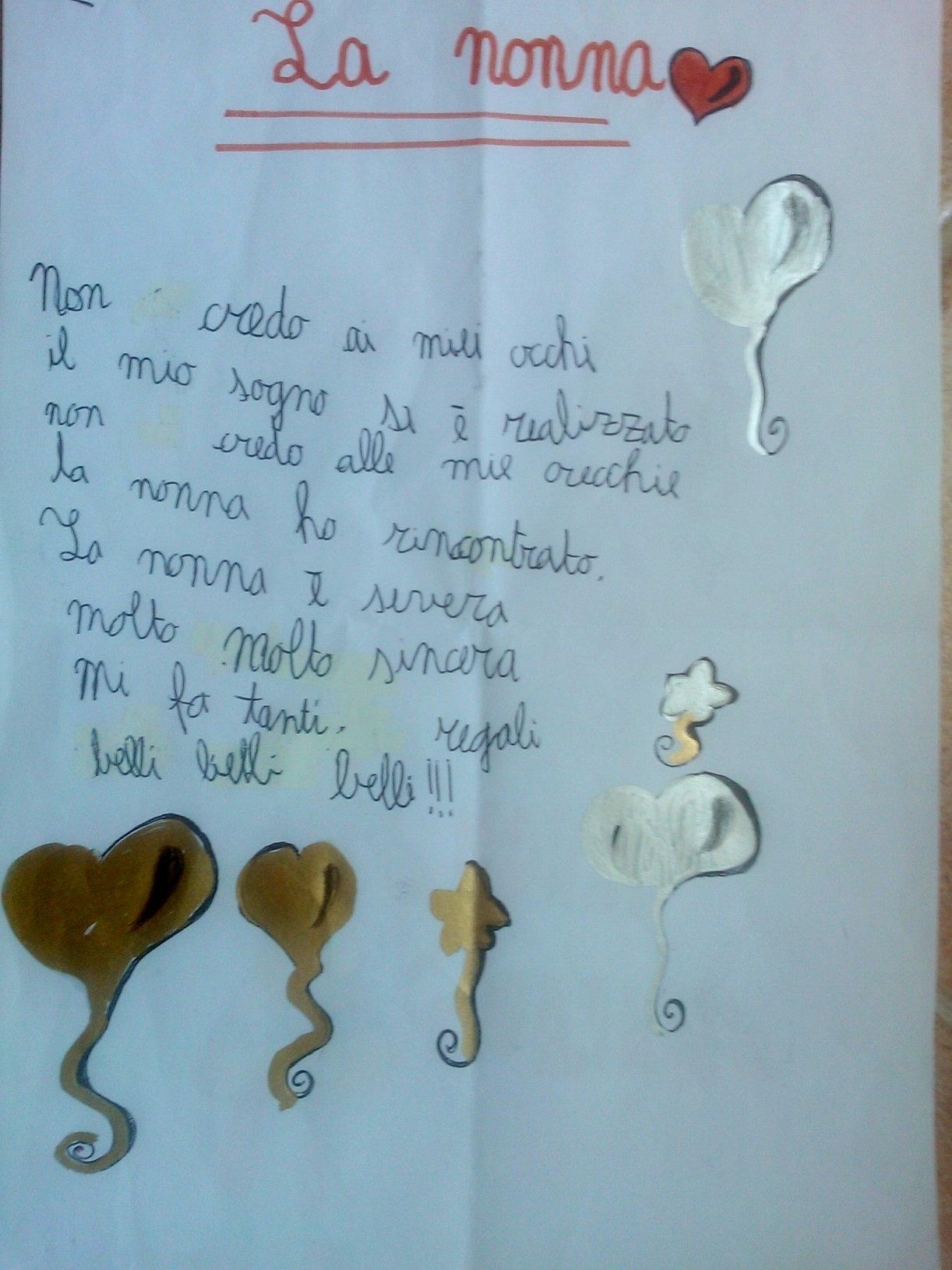 Popolare Poesie Sui Nonni Scuola Primaria IZ07 » Regardsdefemmes SO46