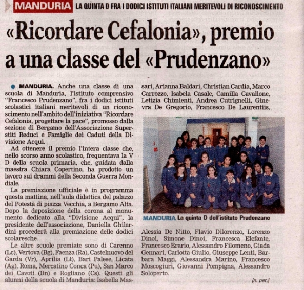 L'articolo de La Gazzetta del Mezzogiorno, firmato da Nando Perrone