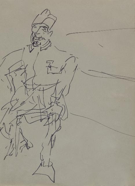 F. Bacon_Ritratto di Apollinaire da Picasso, Londra, coll. priv. (466x640)