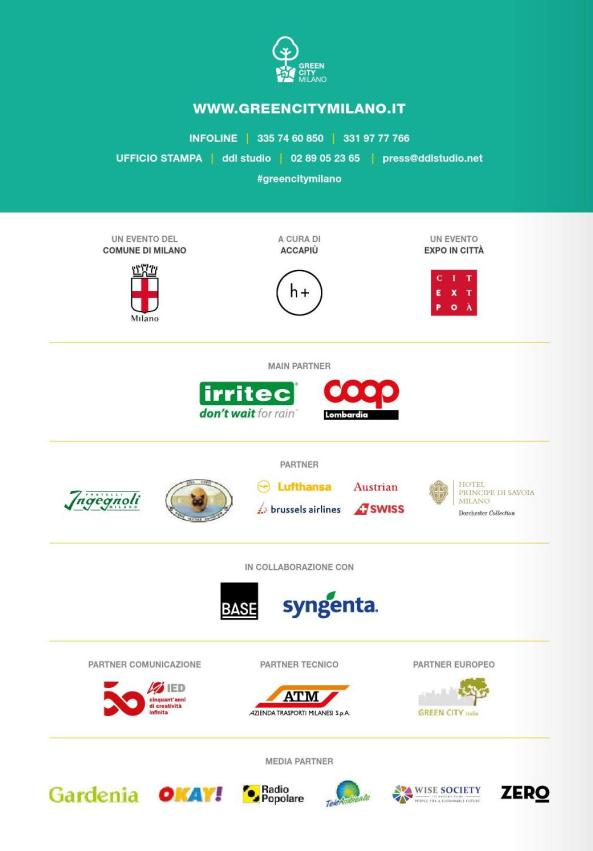 GREEN CITY MILANO 2016  media partners