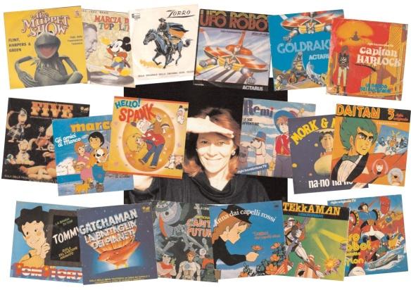 Fenomeni cartoons e sigle tv: tutti i records della cantante paola