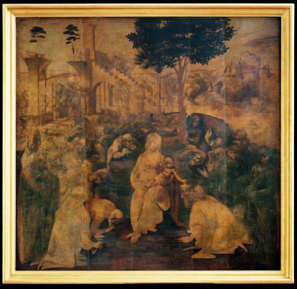 Leonardo da Vinci, Adorazione dei Magi Inv. 1890 N.1594