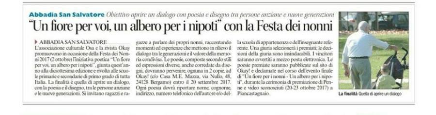 Corriere di Siena Poesie Nonni