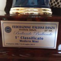 CONCORSO ITALIANO DI DANZA MODERNA: UNA BELLISSIMA VITTORIA PER... VITTORIA SEROFILLI DI RIMINI!