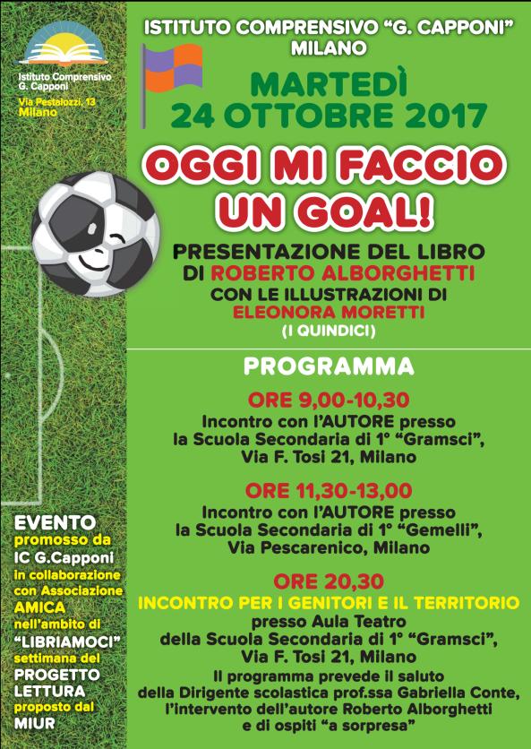 """""""OGGI MI FACCIO UN GOAL!"""": FRANCO BARESI ALLA PRESENTAZIONE ALL'IC CAPPONI DI MILANO (24OTTOBRE)"""