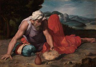 Daniele da Volterra, Il Profeta Elia nel deserto