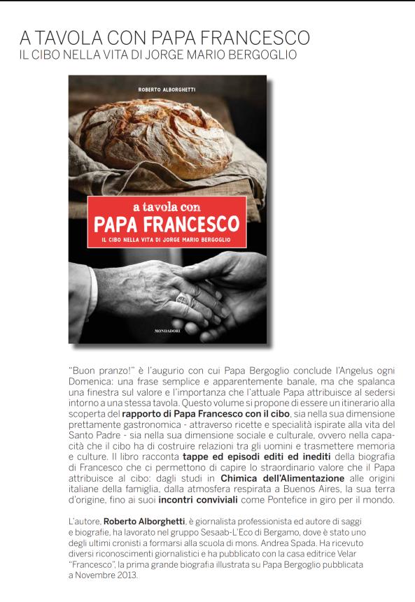 Scheda Info A tavola con papa Francesco