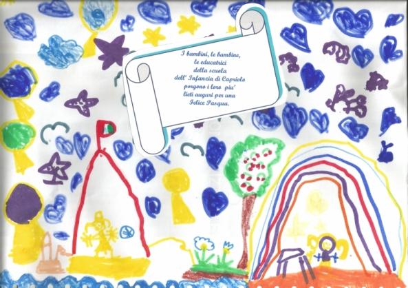Buona Pasqua dai bimbi di Capriolo (800x565)