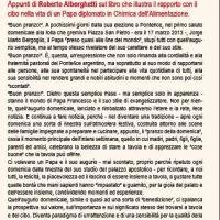 """ALBINO (BG), 16 LUGLIO 2018, ORE 21: """"A TAVOLA CON PAPA FRANCESCO"""""""