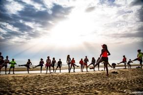 WALK ON THE BEACH_ 2018 -rimini 12 giugno 2018 la camminata sportiva sulla spiaggia di Rimini con il Personal Trainer Elen Souza (ph © Giorgio Salvatori/Serena Amatori - officinaphotografica)