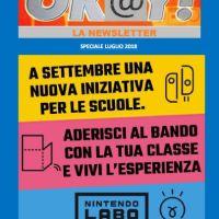 OKAY! SPECIALE NEWSLETTER DI LUGLIO CON IL BANDO DI NINTENDO LABO
