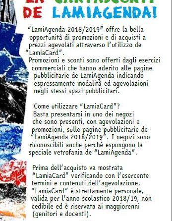 LamiaCard Agenda 2018 19