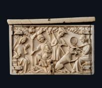 Cofanetto con soggetti cavallereschi .Scuola francese 1340-1350