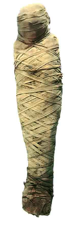 Mummia di donna di epoca romana I-II sec. d.C