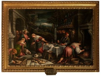 francesco bassano-cristo in casa di marta e maria