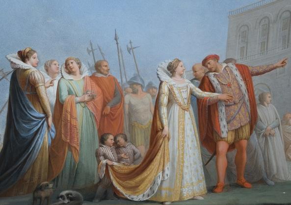 Affresco nella Quadreria di Casa Martelli Nozze di Camilla e Cosimo