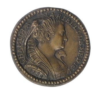 Pastorino Pastorini, Medaglia di Camilla Martelli, 1584, Museo di Casa Martelli