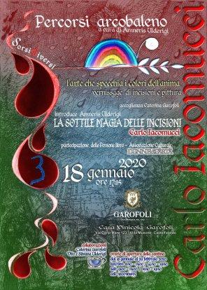 r- Terzo evento- mostra personale di Carlo Iacomucci a Castelfidardo Villa Musone Cantina Garofoli -dal 18 genn. al 29 febb. 2020