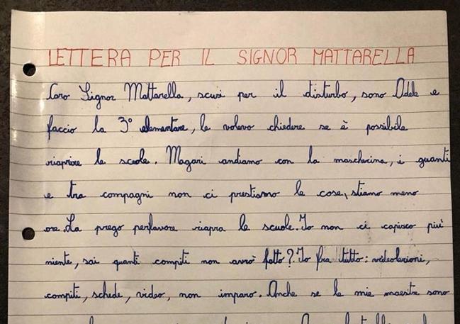 1 Lettera per Mattarella