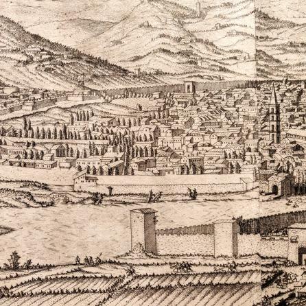 Veduta Firenze3 - Fortezza da Basso e Santa Maria Novella