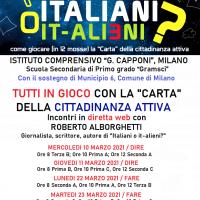 ITALIANI O IT-ALIENI? / QUATTRO GIORNATE IN DIRETTA WEB CON L'I.C. CAPPONI DI MILANO
